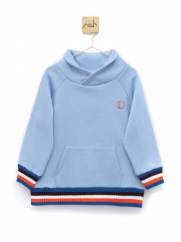 SUDADERA SMOKING CELESTE